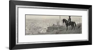 Napoleon at Cairo During His Egyptian Campaign Goes out Riding All by Himself and Stops--Framed Giclee Print
