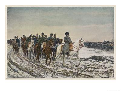 Napoleon at the Head of His Staff During the Campaign of France-Meissonier-Giclee Print