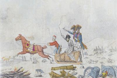 Napoleon at the Retreat from Russia in 1812, C.1812-13--Giclee Print