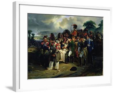 Napoleon Bidding Farewell to Marshal Jean Lannes, 1858--Framed Giclee Print