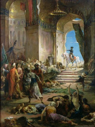Napoleon Bonaparte (1769-1821) in the Grand Mosque at Cairo-Henri Levy-Giclee Print