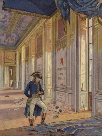 Napoleon Bonaparte Among the Ruins of the Tuileries Palace