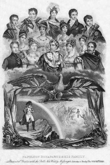 Napoleon Bonaparte and His Family, 1840--Giclee Print