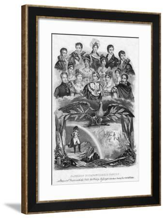 Napoleon Bonaparte and His Family, 1840--Framed Giclee Print