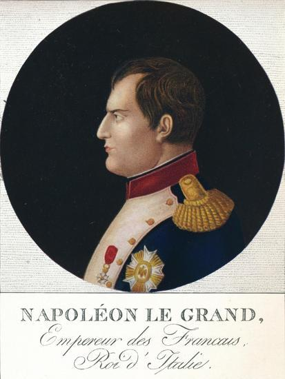 'Napoleon Bonaparte, Emperor of the French, King of Italy', c19th century (1912)-Unknown-Giclee Print