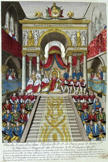 Napoleon Bonaparte Is Crowned Emperor Napoleon I, 2nd December, 1804, 19th Century--Giclee Print