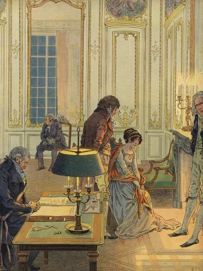 Napoleon Bonaparte Saying Farewell to His Wife--Giclee Print