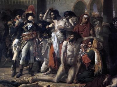 Napoleon Bonaparte Visiting the Plague Stricken of Jaffa, 11th March 1799, 1804-Antoine-Jean Gros-Giclee Print