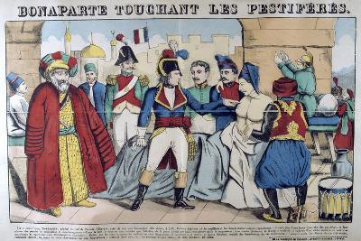 Napoleon Bonaparte Visiting the Plague Stricken of Jaffa, 11th March 1799, 19th Century--Giclee Print