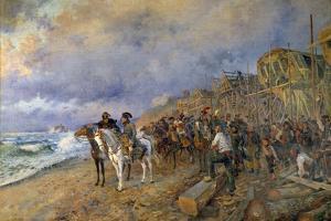 Napoleon Bonaparte Visits the Arsenal of Boulogne, by Maurice Orange