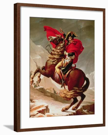 Napoleon Crossing the Alps, circa 1800-Jacques-Louis David-Framed Giclee Print