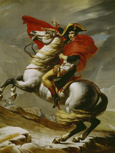 Napoleon Crossing the Alps-Jacques-Louis David-Giclee Print