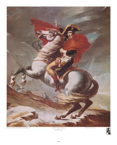 Napoleon Crossing the St. Bernard Pass, c.1801-Jacques-Louis David-Art Print