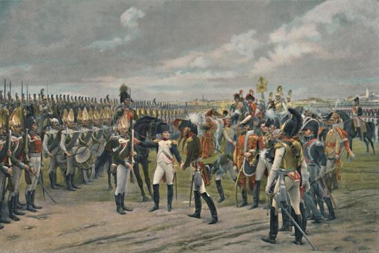 'Napoleon Decorating The Russian Grenadier at Tilsitt', 1807, (1896)-Unknown-Giclee Print