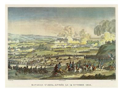 Napoleon Defeats the Prussians under Hohenloe at Jena--Giclee Print