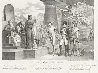 Napoléon devant les juges suprêmes-Nicolas Toussaint Charlet-Giclee Print