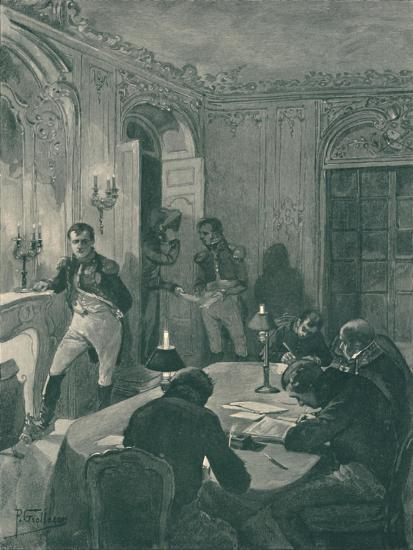 'Napoleon Dictating To His Secretaries', 1896-Unknown-Giclee Print