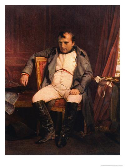 Napoleon Emperor Defeated at Fontainebleau 1814-Paul Hippolyte Delaroche-Giclee Print