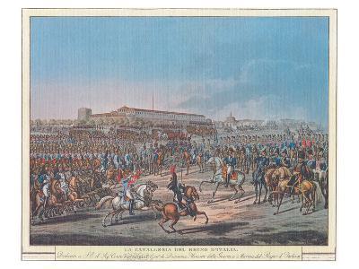 Napoleon et la Garde d'Honneur de Milan--Art Print