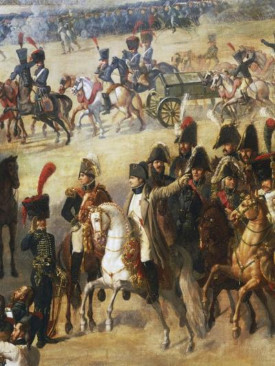 Napoleon Giving Orders on Battlefield, Detail from French Army Pulling Down Rosbach Column-Pierre Antoine Augustin Vafflard-Giclee Print