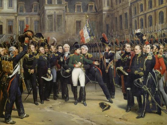 Napoleon I Bidding Farewell toImperial Guard atChateau De Fontainebleau, 20th April 1814-Horace Vernet-Giclee Print