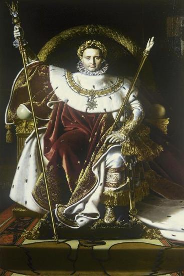 Napoleon I on the Imperial Throne-Jean-Auguste-Dominique Ingres-Art Print