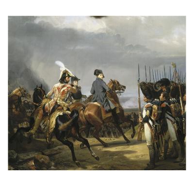 Napoléon Ier passant devant les troupes à la bataille d'Iena, 14 octobre 1806 (bataille contre-Horace Vernet-Giclee Print
