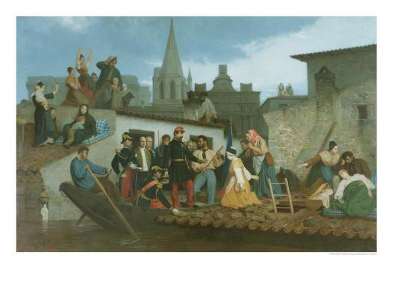 Napoleon III Visiting Flood Victims of Tarascon in June 1856, 1856 Giclee  Print by William Adolphe Bouguereau | Art com