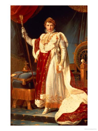 Napoleon in Coronation Robes, circa 1804-Francois Gerard-Giclee Print