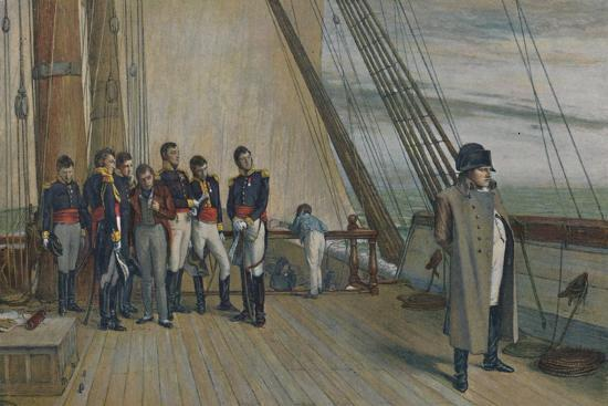 'Napoleon on Board H.M.S. Bellerophon, July, 1815', (1896)-Unknown-Giclee Print