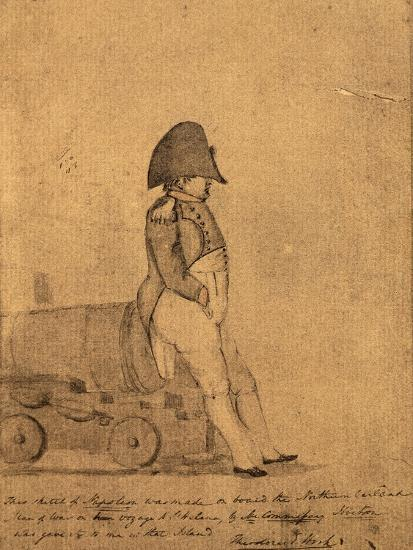 Napoleon on Board the Northumberland on its Way to St Helena by a British Officer--Giclee Print
