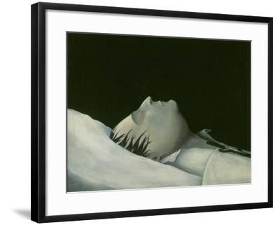 Napoleon on His Deathbed on St Helena, 1821-Denzil O. Ibbetson-Framed Giclee Print