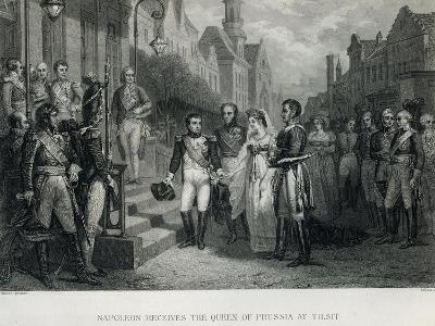 Napoleon Receives the Queen of Prussia at Tilsit, 1807--Giclee Print