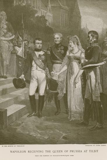 Napoleon Receiving the Queen of Prussia at Tilsit--Giclee Print