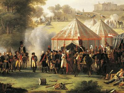 Napoleon's Encampment at Abersberg Castle, May 4, 1809-Pierre Antoine Mongin-Giclee Print