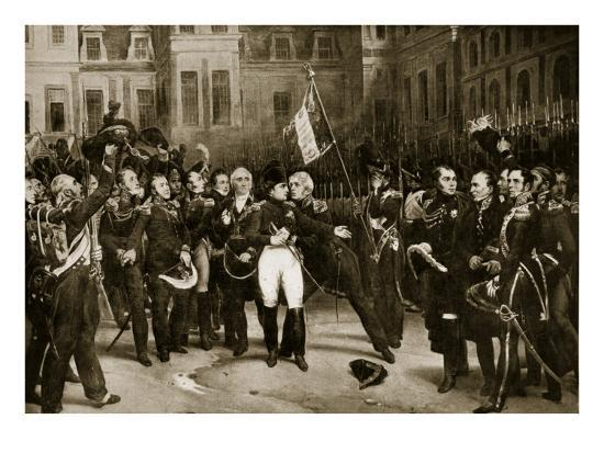Napoleon's Farewell to His Generals at Fontainbleau, 1814-Horace Vernet-Giclee Print