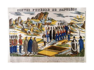 Napoleon's Funeral Cortege, St Helena, 1821--Giclee Print