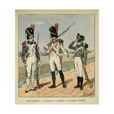 Napoleon's Imperial Guard: 1st Regiment Grenadier and Pupils of the 2nd Regiment-Louis Bombled-Giclee Print