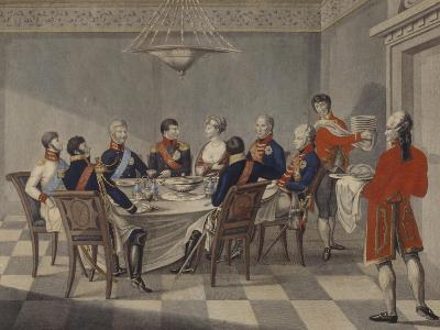Napoleon's Round Table at Sovetsk-Johann Meno Haas-Giclee Print