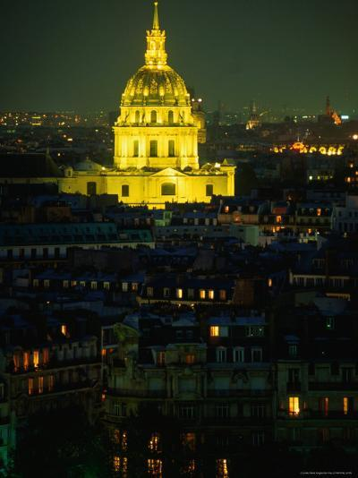 Napoleon's Tomb, in Eglise Du Dome of Hotel Des Invalides, at Night Paris, France-John Hay-Photographic Print