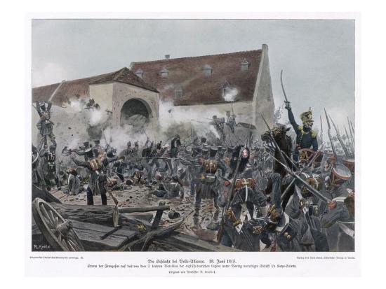 Napoleonic Wars the Fighting at La Haye-Sainte (Belle Alliance)--Giclee Print