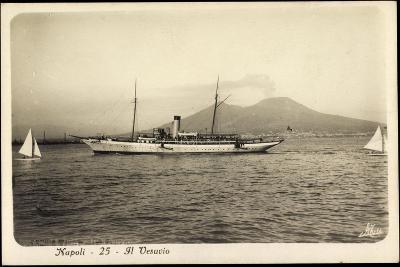 Napoli Campagnia, Berg Vesuv, Yacht, Segelboote--Giclee Print