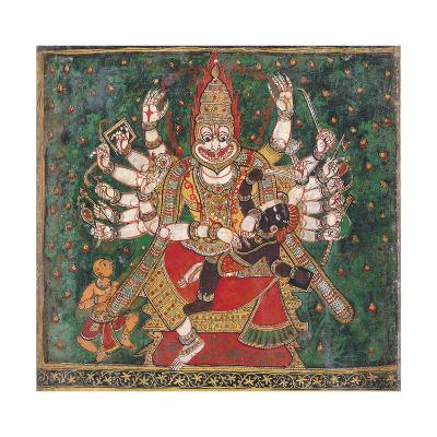 Narasimha Killing Hiranyakashipu, as Prahlada Watches--Giclee Print