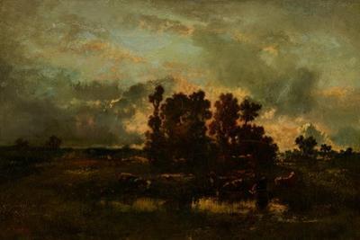 Wet Pasture, C.1870 by Narcisse Virgile Diaz de la Pena