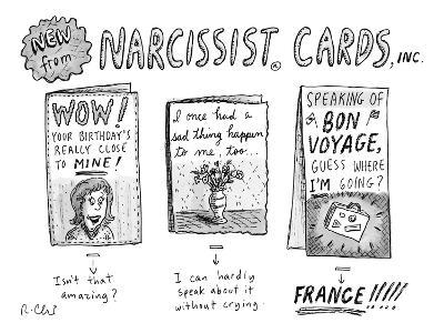 Narcissist Cards. - New Yorker Cartoon-Roz Chast-Premium Giclee Print