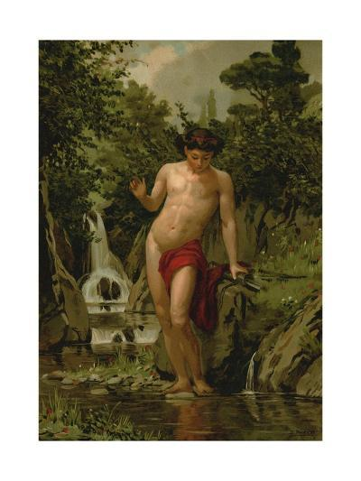 Narcissus in Love with His Own Reflection-Dionisio Baixeras-Verdaguer-Giclee Print