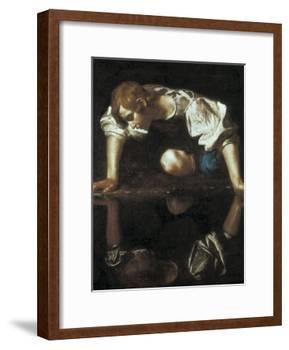 Narcissus-Caravaggio-Framed Art Print