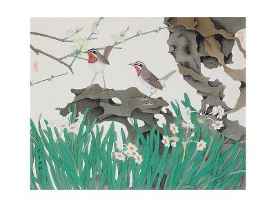 Narcissuses and Bird-Hsi-Tsun Chang-Giclee Print