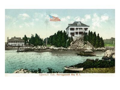 Narragansett, Rhode Island, Bay View of the Squantum Club-Lantern Press-Art Print