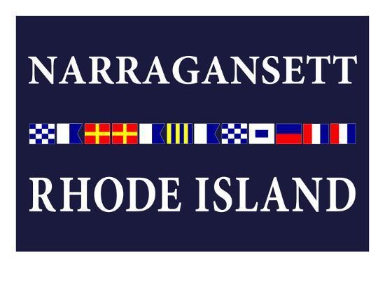 Narragansett, Rhode Island - Nautical Flags-Lantern Press-Art Print